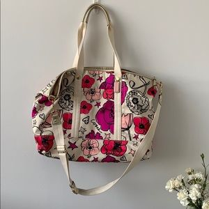 Coach Weekender - Floral Print - Gold & Cream